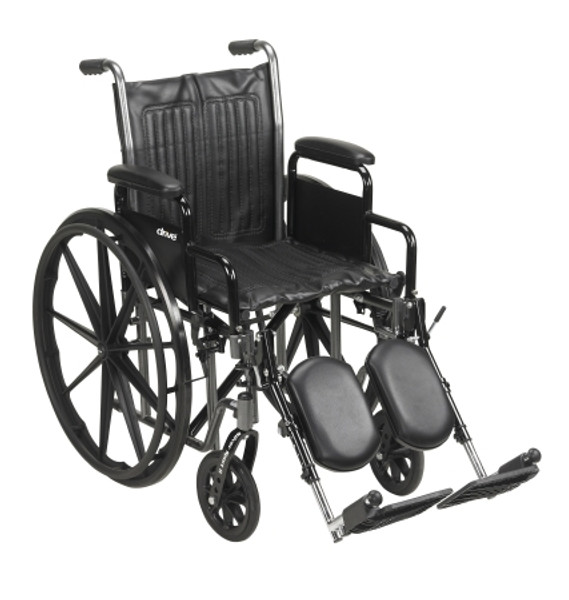 mckesson standard wheelchair with swing away foot