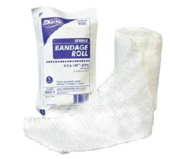 "Gauze Bandage Roll, 6-Ply Cotton, 4.5"" x 4.1 yrds"