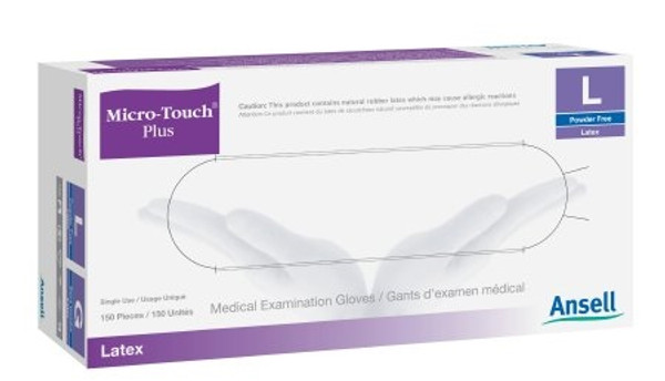 Exam Glove Micro-Touch Plus NonSterile Ivory Powder Free Latex Ambidextrous Fully Textured Not Chemo Approved