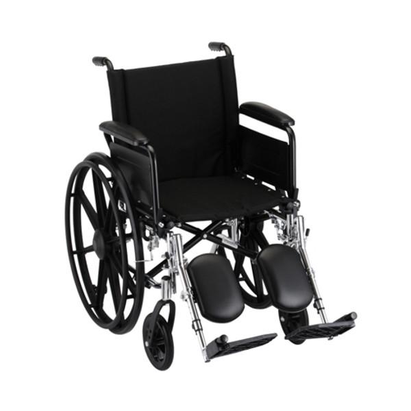 18 Inch Lightweight Wheelchair w/ Desk Arms & Elevating Leg Rests