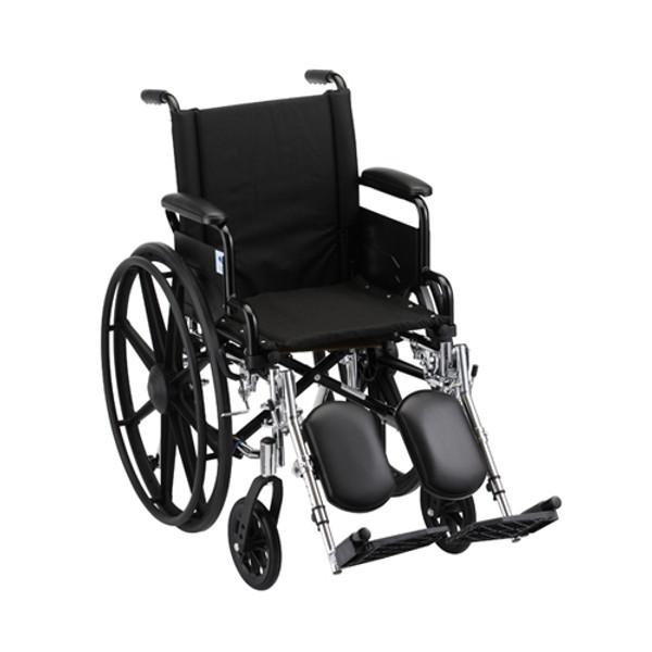 16 Inch Lightweight Wheelchair w/ Desk Arms & Elevating Leg Rests