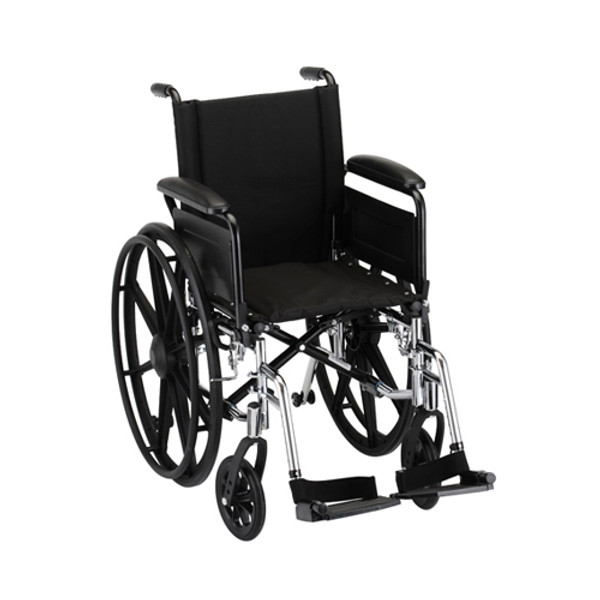 16 Inch Lightweight Wheelchair w/ Full Arms & Footrests
