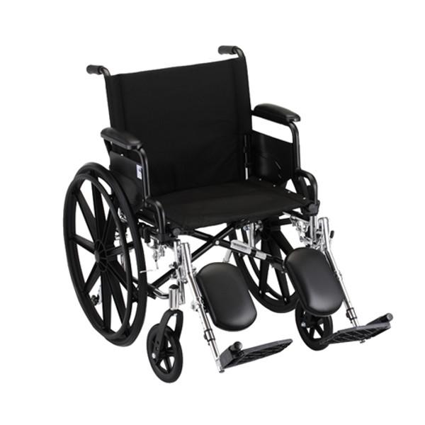 "20"" Lightweight Wheelchair w/ Desk Arms & Elevating Leg Rests"