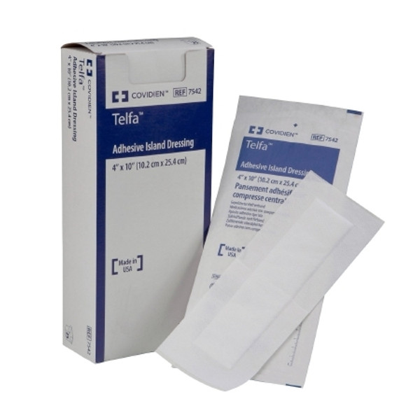 Adhesive Dressing Telfa NonWoven Rectangle White Sterile