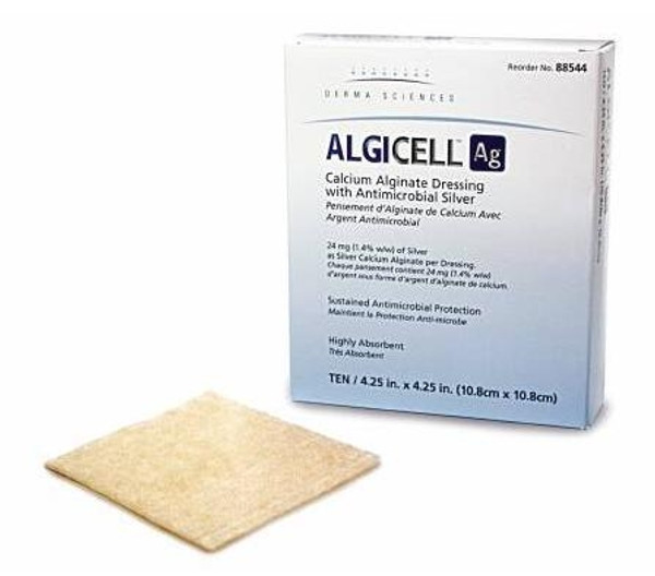 ALGICELL Ag Calcium Alginate Dressing with Antimicrobial Silver