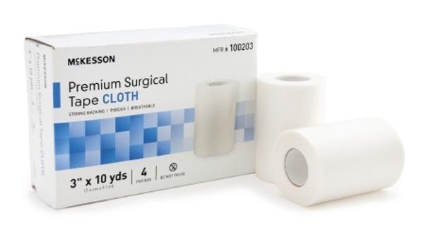 Medical Tape McKesson High Adhesion Silk-Like Cloth White NonSterile