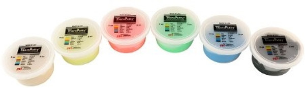 Exercise Putty Set CanDo Theraputty XX-Soft, X-Soft, Soft Medium Firm