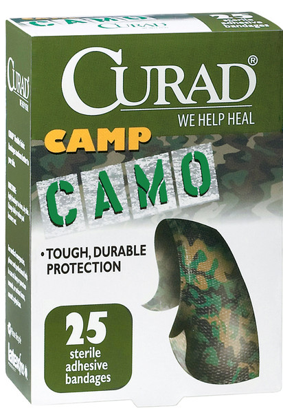 CURAD Green Camouflage Bandages