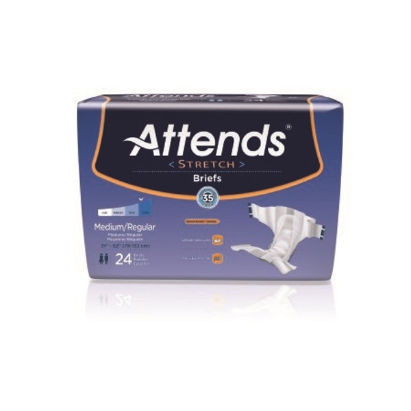 Adult Incontinent Brief Attends Stretch Tab Closure Disposable Moderate Absorbency