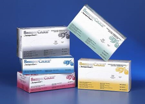Exam Glove SemperCare Vinyl NonSterile Ivory Powder Free Vinyl Ambidextrous Smooth Not Chemo Approved