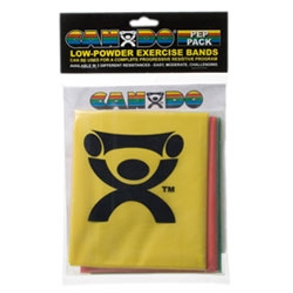 CanDo Exercise Band Pep Pack 10-5280