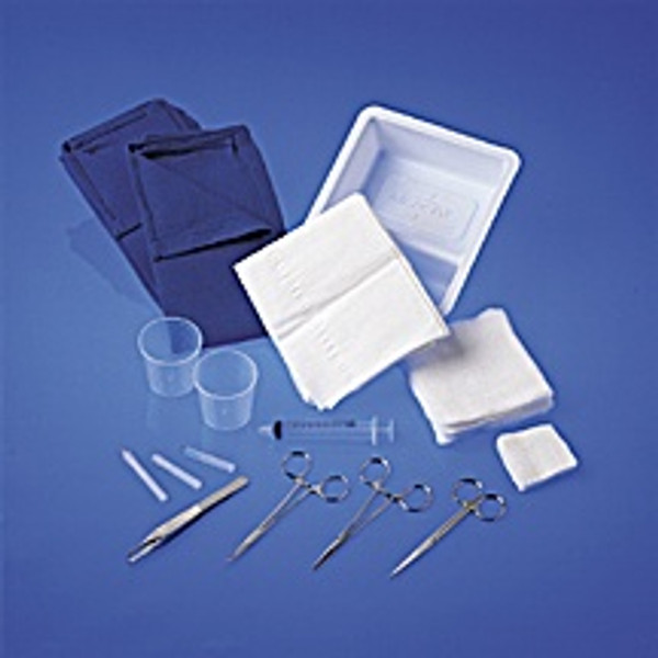 Laceration Trays with Comfort Loop Instruments