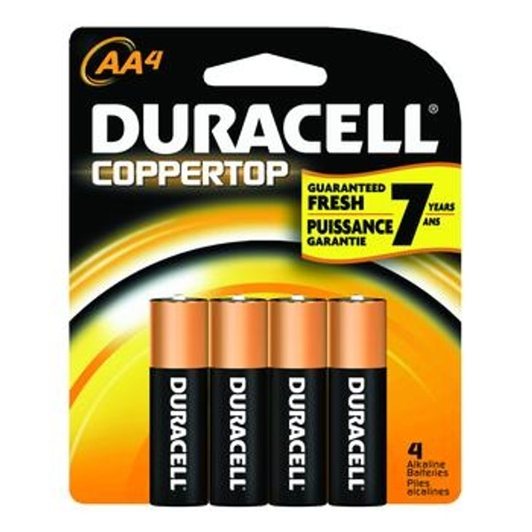 aa duracell coppertop batteries