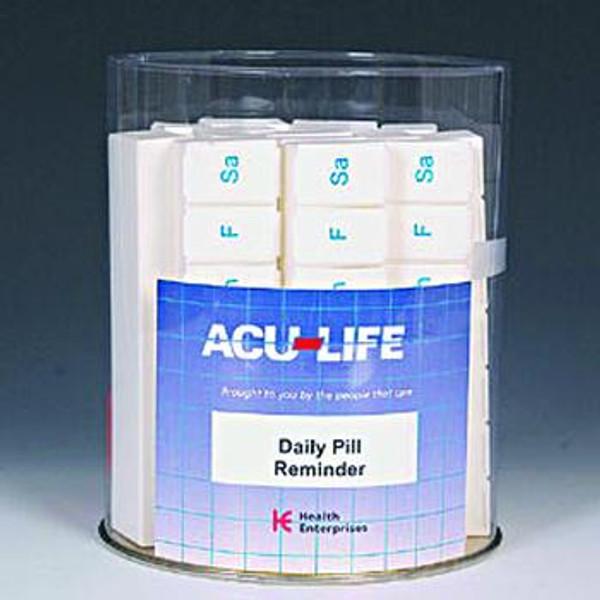 ACU-LIFE 7-day Large Pill Box 16pc Display Tub