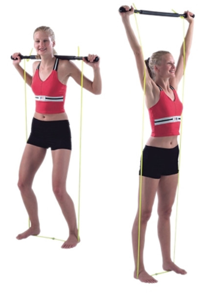 padded exercise bar with tubing unweighted