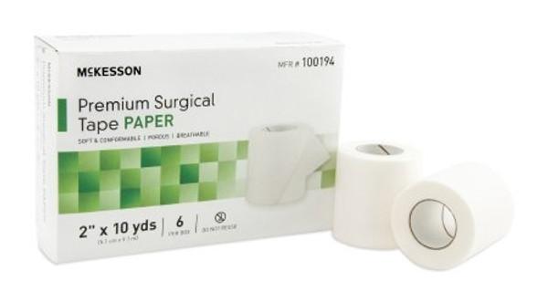 Medical Tape McKesson Skin Friendly Paper White NonSterile