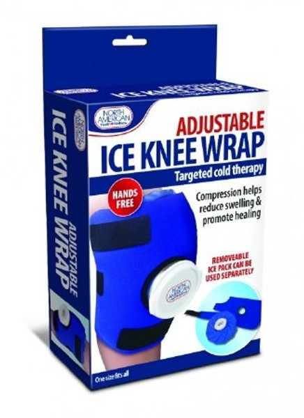 Ice Wrap North American Health & Wellness Knee One Size Fits Most Reusable