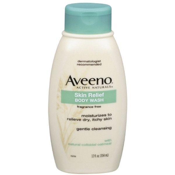 Aveeno Skin Relief Liquid Body Wash 12 oz. Bottle Unscented