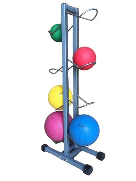 cando plyometric ball rack