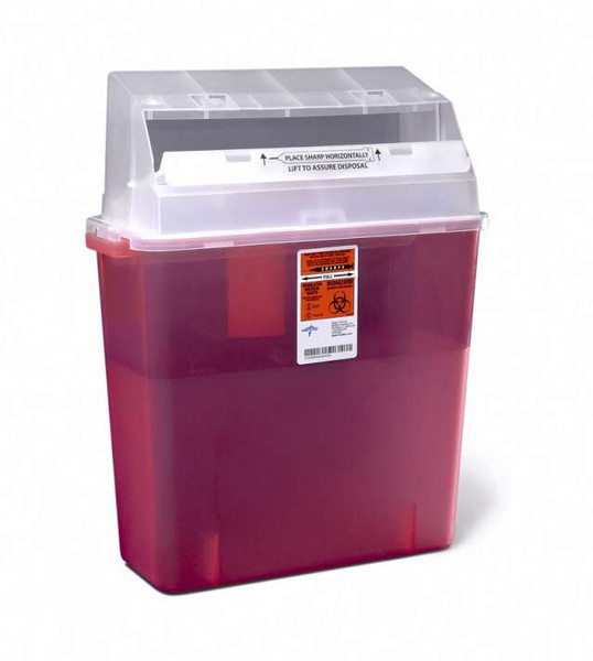 Patient Room Sharps Containers - 3 gal, Wall/Free