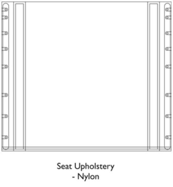 20x16 Seat Upholstery Folding