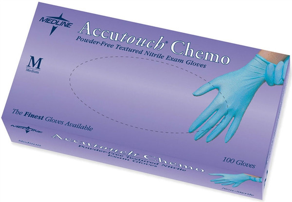 Accutouch Chemo Nitrile Exam Gloves, Blue
