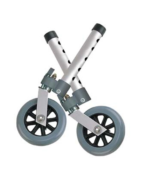 """5"""" Swivel Wheels with Locks and Set of Glides"""