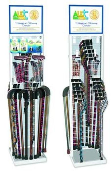 aluminum cane display