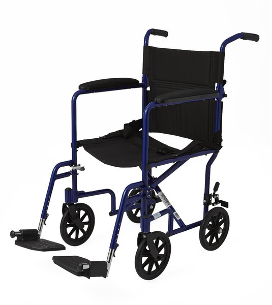 """Aluminum Transport Chair with 8"""" Wheels"""