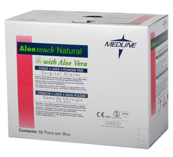 Aloetouch Natural Surgical Gloves