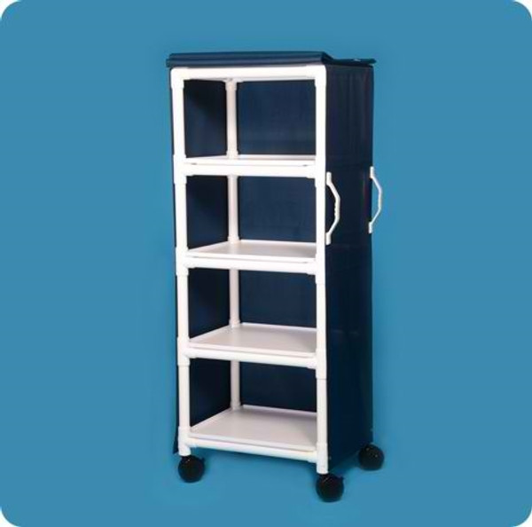 4 SHELF CART WITH COVER