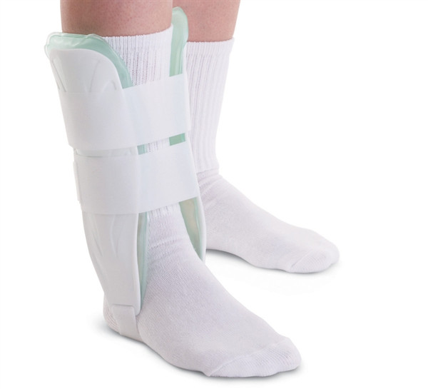 Air and Gel Stirrup Ankle Splints, White