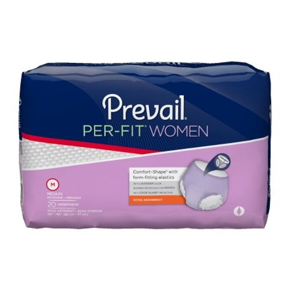 Adult Absorbent Underwear Prevail Per-Fit Women Pull On Disposable Moderate Absorbency