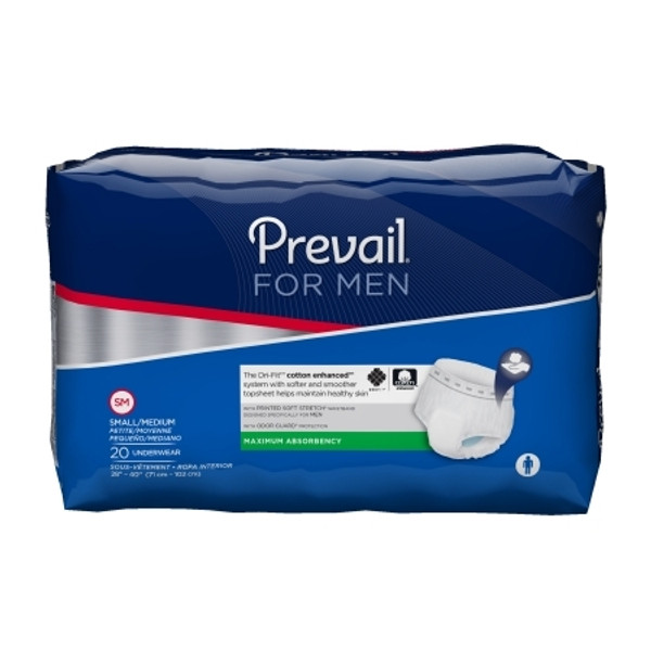 Adult Absorbent Underwear Prevail for Men Pull On Disposable Moderate Absorbency