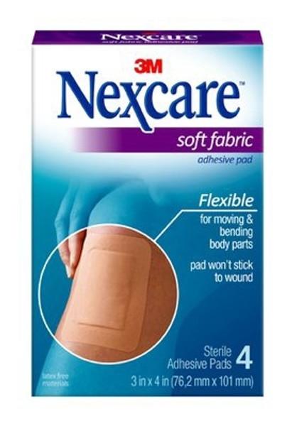 Adhesive Strip Nexcare Fabric Rectangle Tan