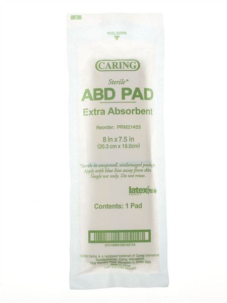 Caring Sterile Abdominal Pads