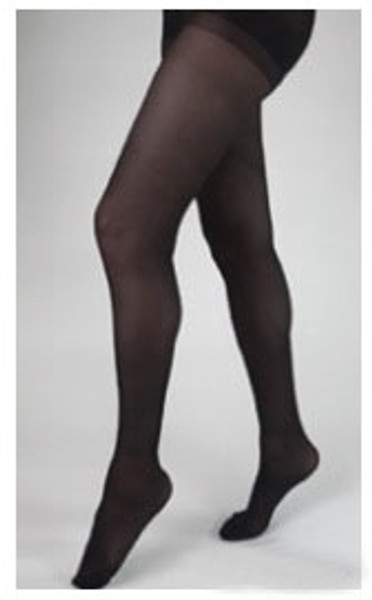 Compression Stockings Health Support Thigh High, Black Closed Toe