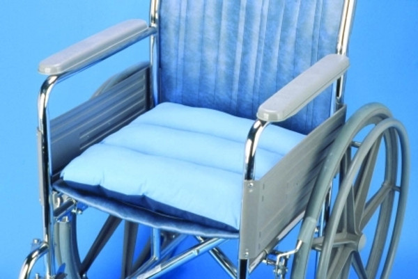 Wheelchair Total Comfort Seat Pad 17 x 17 x 3 Inch Cotton Polyester One Side, Polyurethane Arm