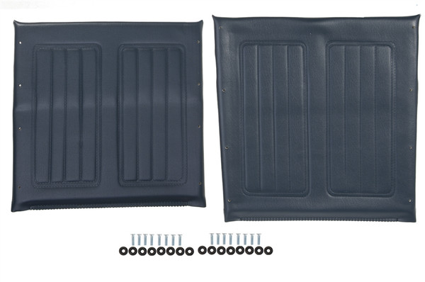 """16"""" Wheelchair Seat & Back Upholstery Set, Blue"""