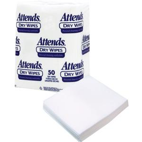 "Attends® Dry Wipes, 10"" x 13"", Medium-Weight"