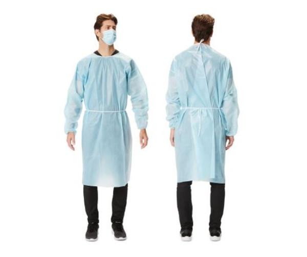Protective Procedure Gown - Size Large, Blue, Non-Sterile, Disposable