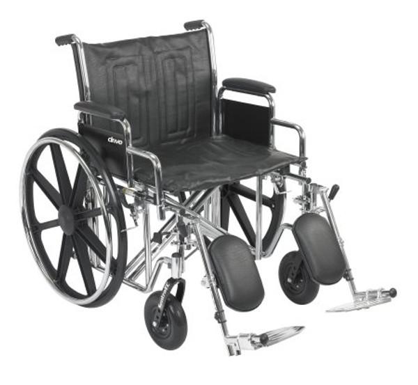 Bariatric Wheelchair McKesson Dual Axle