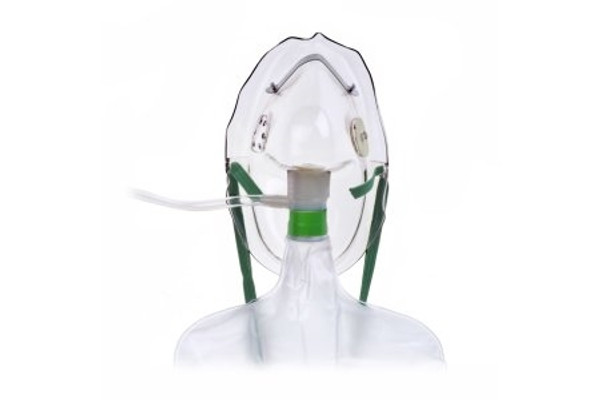 NonRebreather Oxygen Mask Under the Chin Adult One Size Fits Most Adjustable Elastic Head Strap