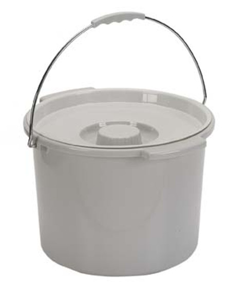 Commode 12 Quart Bucket with Handle and Cover