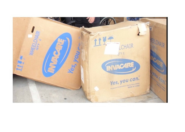 Packaging for Invacare Wheelchairs EX2 or SX5