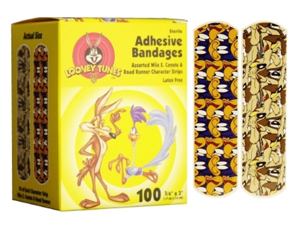 Adhesive Strip Stat Strip Plastic Rectangle Kid Design Looney Tunes / Roadrunner) Sterile