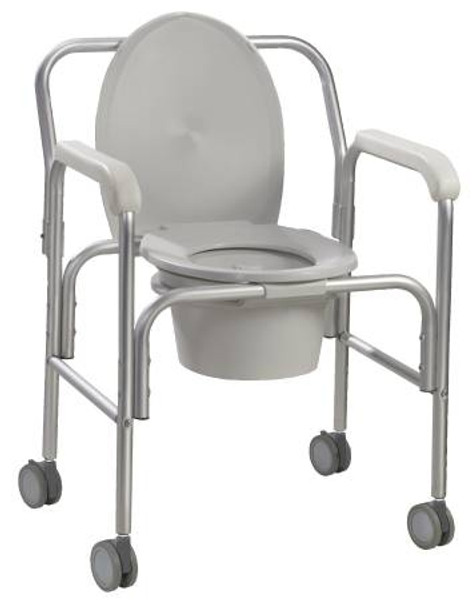 Aluminum Commode with Reclining Back