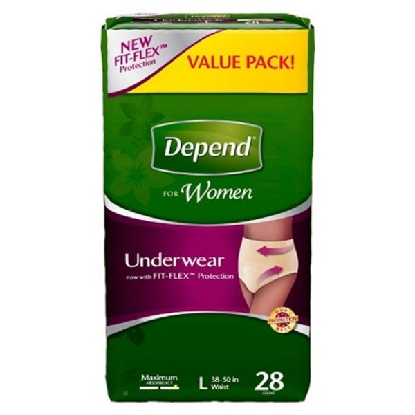 Adult Absorbent Underwear Depend Pull On Large Disposable Heavy Absorbency