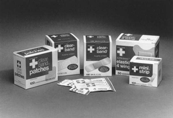 Adhesive Strip American White Cross First Aid Rectangle Tan Sterile