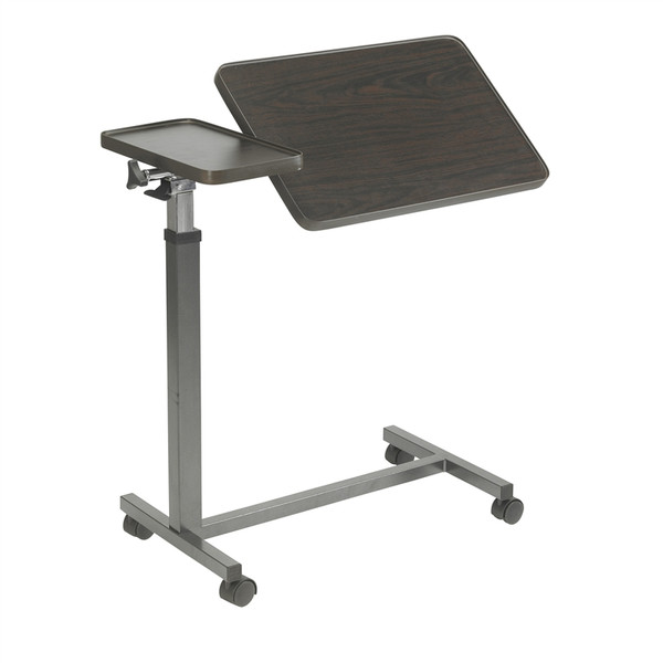 Multi-Purpose Tilt-Top Split Overbed Table with Tray